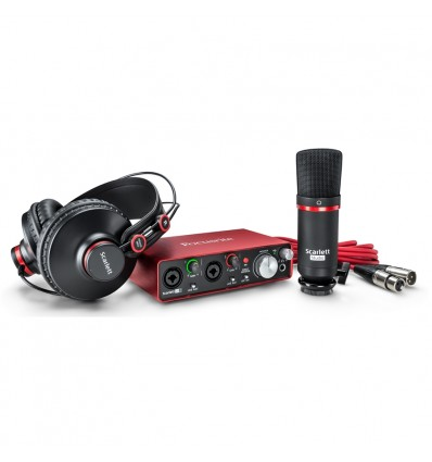 Focusrite Scarlett Studio 2' Generazione Scheda Audio Usb + Microfono a condensatore + Cuffie