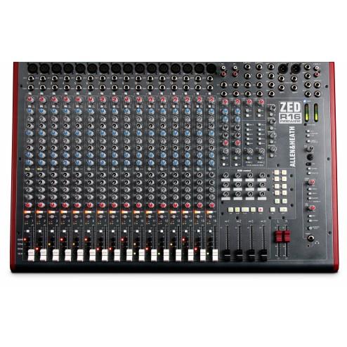ALLEN & HEATH ZED R16 MIXER RECORDING FIREWIRE CON CONTROLLI MIDI 16 CANALI