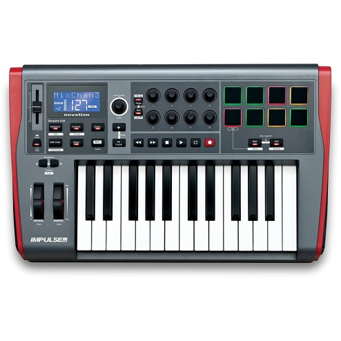 NOVATION Impulse 25 Controller USB-MIDI 25 tasti con drumpad