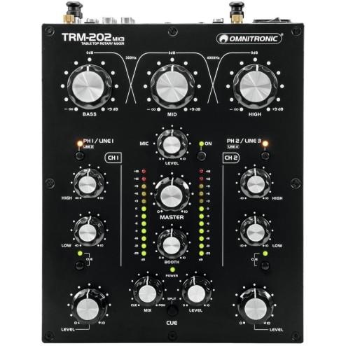 OMNITRONIC TRM 202 MK3 Mixer Rotativo 2 Canali
